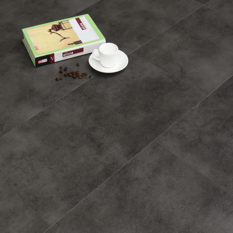 6.5mm Spanish Grey Tile Effect Luxury Vinyl Click Flooring