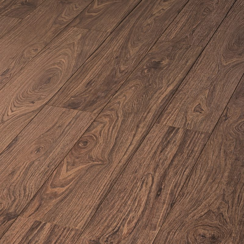Vivant 12mm Walnut Chamoisee 4V Groove Laminate Flooring
