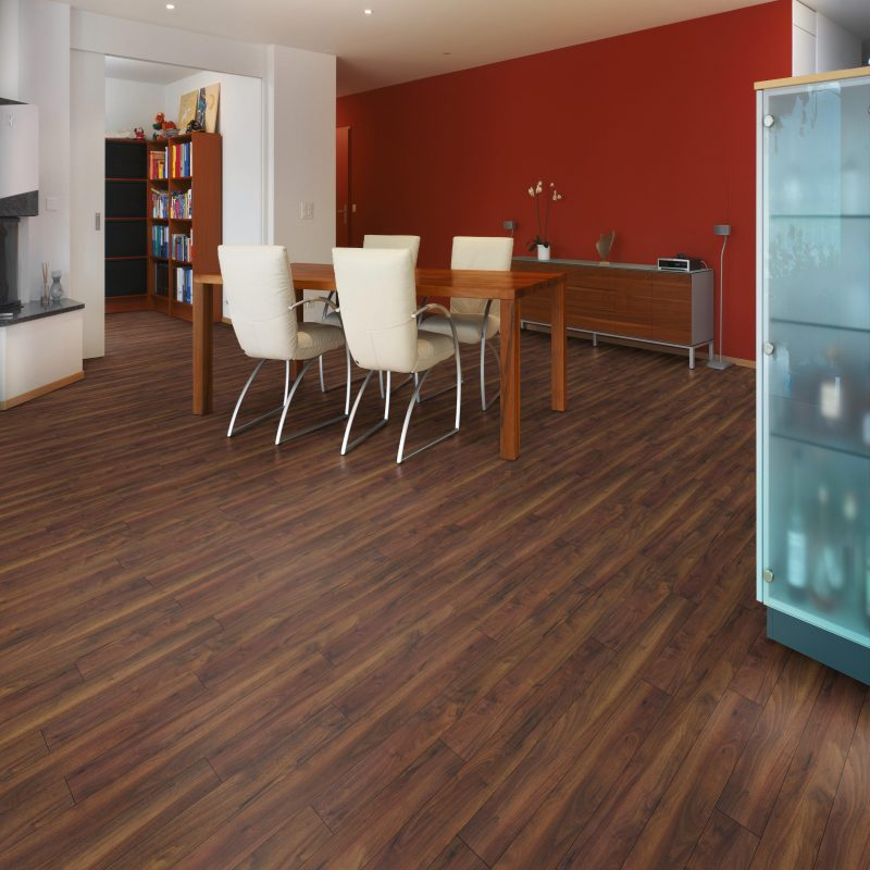Vivant 8mm American Walnut 4V Groove Laminate Flooring