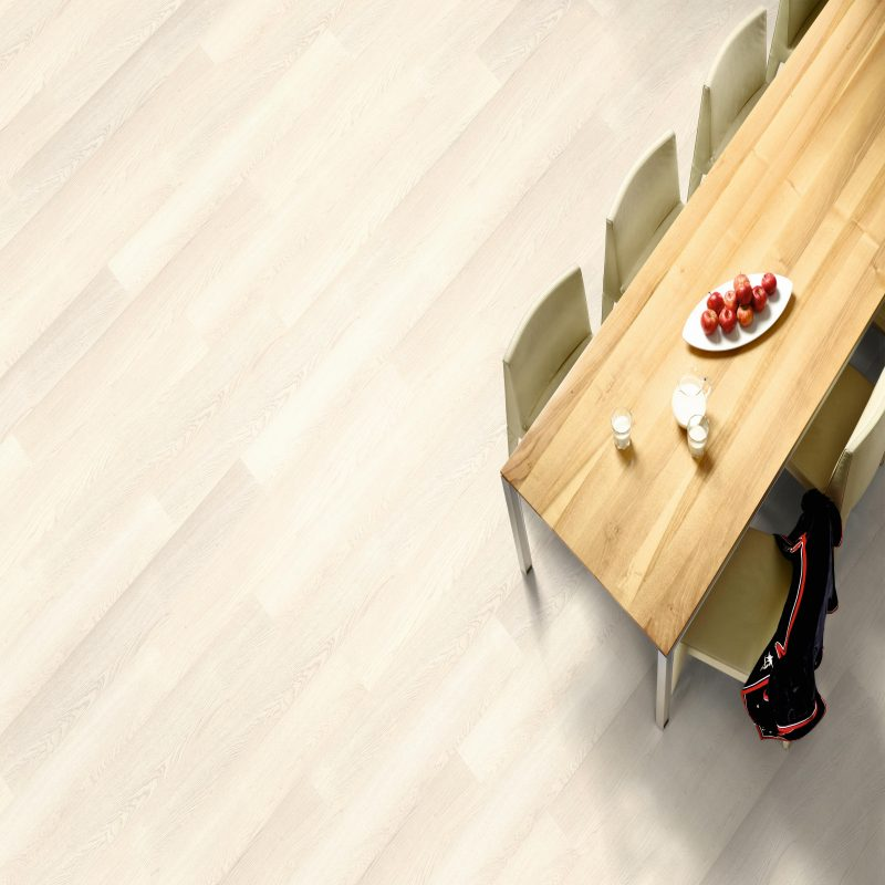 Vivant 8mm White Oristano Oak 4V Groove Laminate Flooring