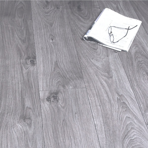 Kronotex 12mm Atlas Oak Anthracite 4v Groove Laminate Flooring