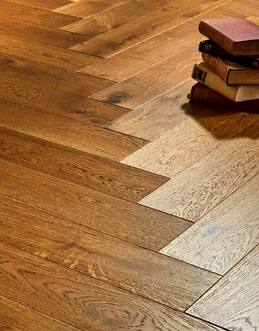 Riviera Herringbone Click 14/3 x 150mm Smoked Oak Engineered Wood