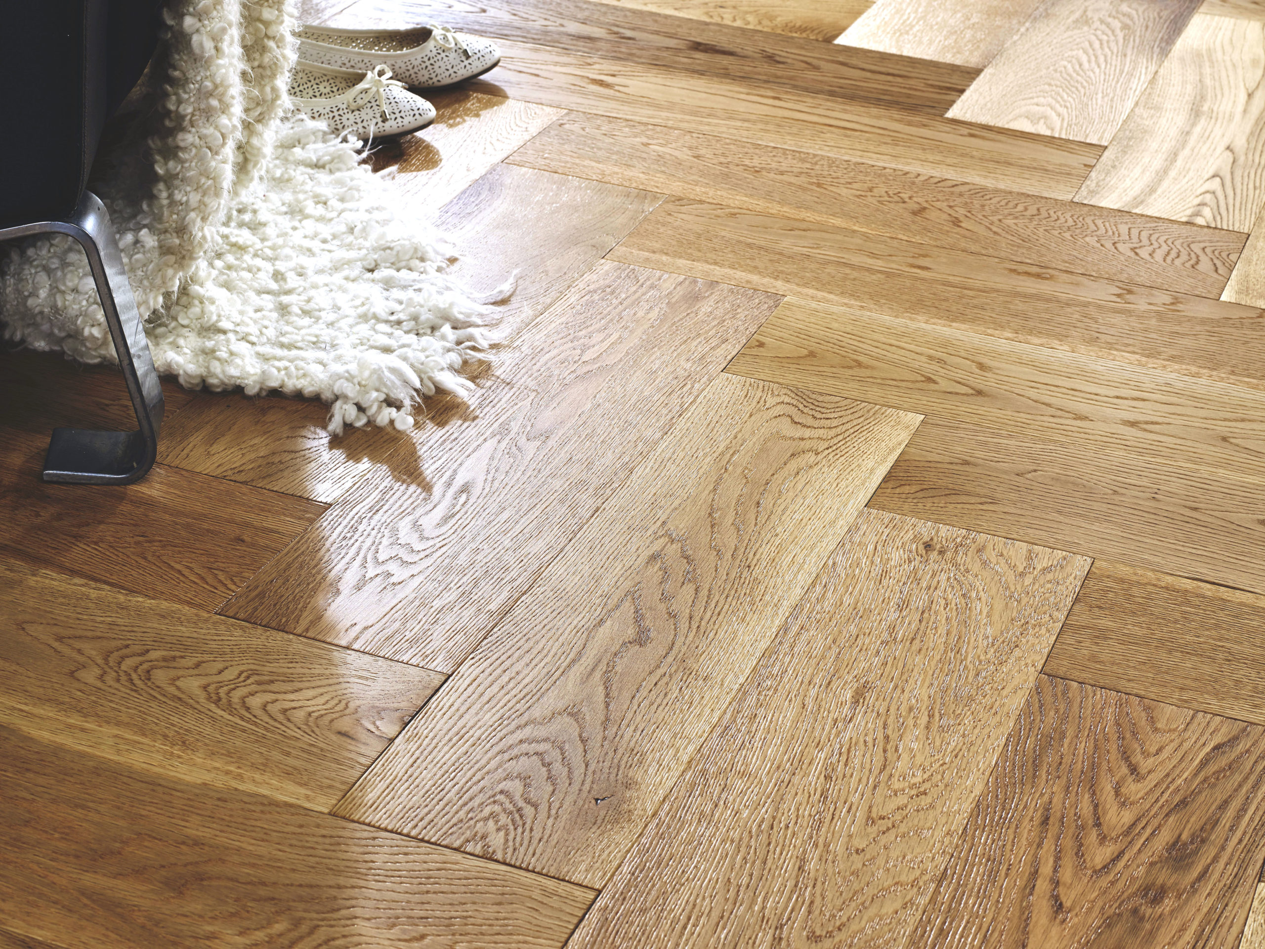 Riviera Herringbone Click 14/3 x 150mm Natural Oak Engineered Wood