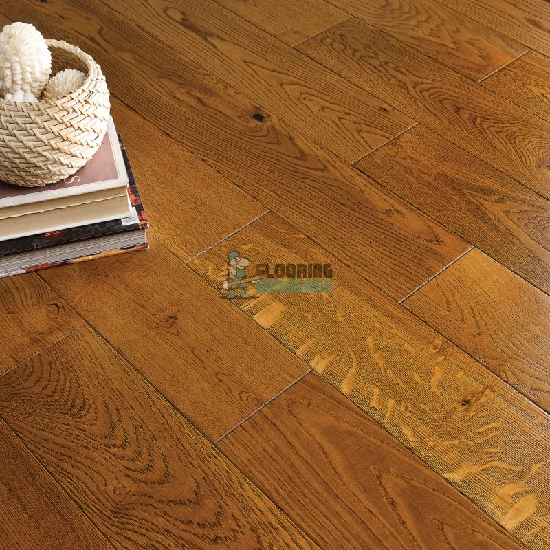 Riviera 20/6 x 190mm Golden Oak Hand scraped Engineered Wood