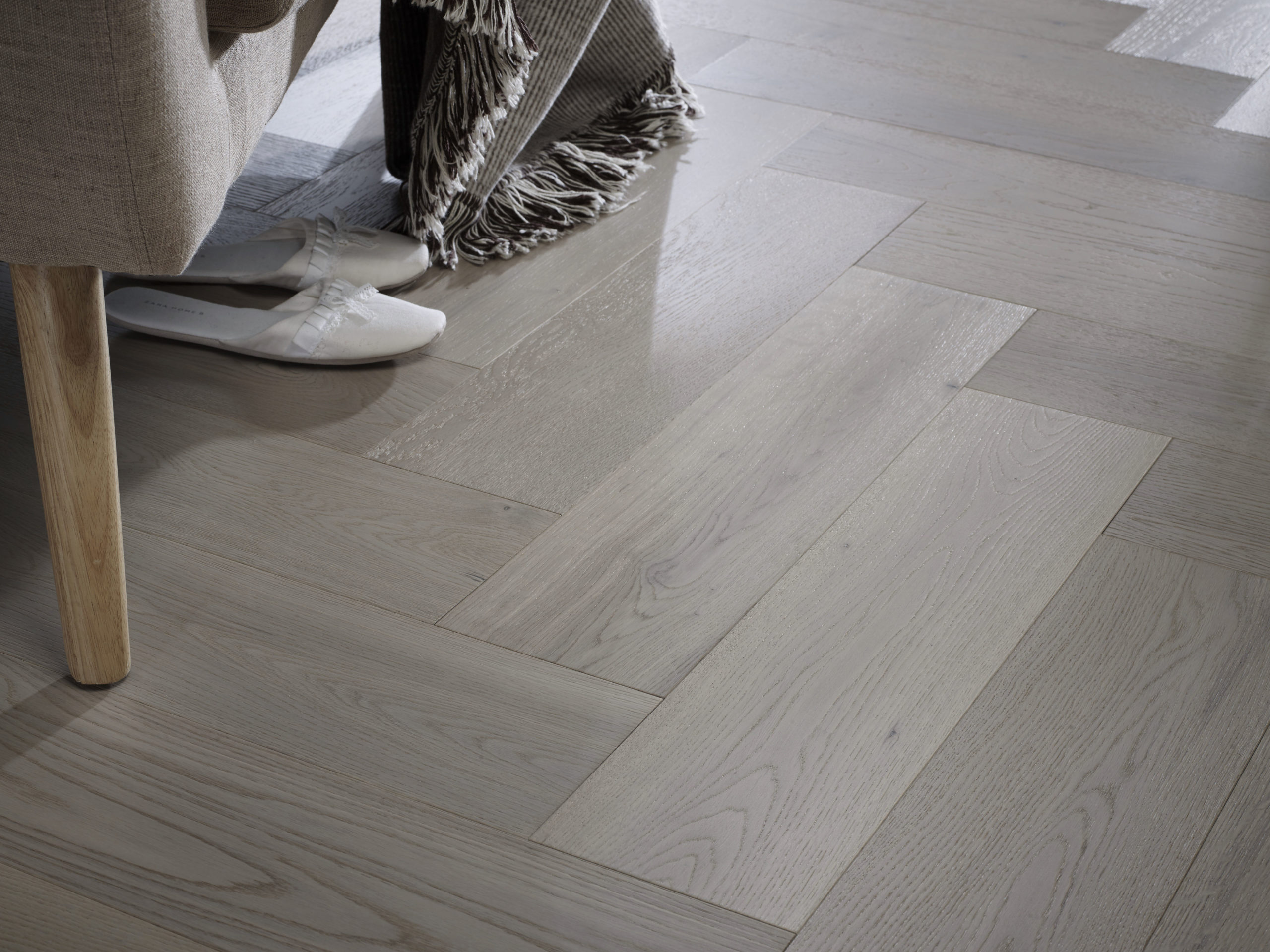 Riviera Herringbone Click 14/3 x 150mm Grey Oak Engineered Wood