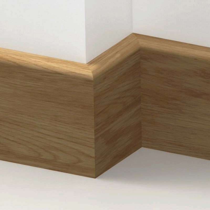 20mm American Solid Oak Bullnose Skirting Board