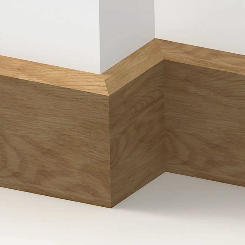 20mm American Solid Oak Chamfered Skirting Board