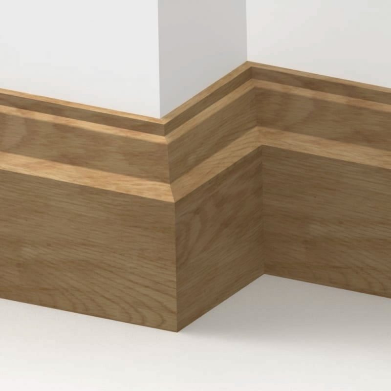 20mm American Solid Oak Lambs Tongue Skirting Board