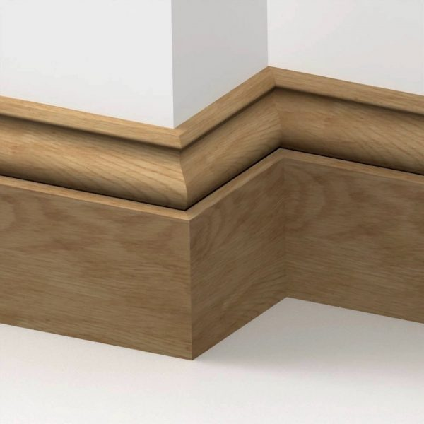 20mm American Solid Oak Ogee Skirting Board