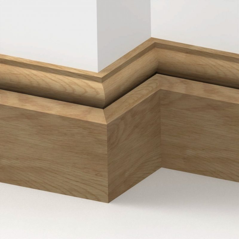 20mm American Solid Oak Torus Skirting Board