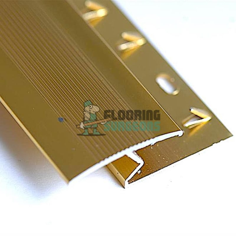 Carpet To Laminate Gold Aluminium Z Bar Section Profile Strip