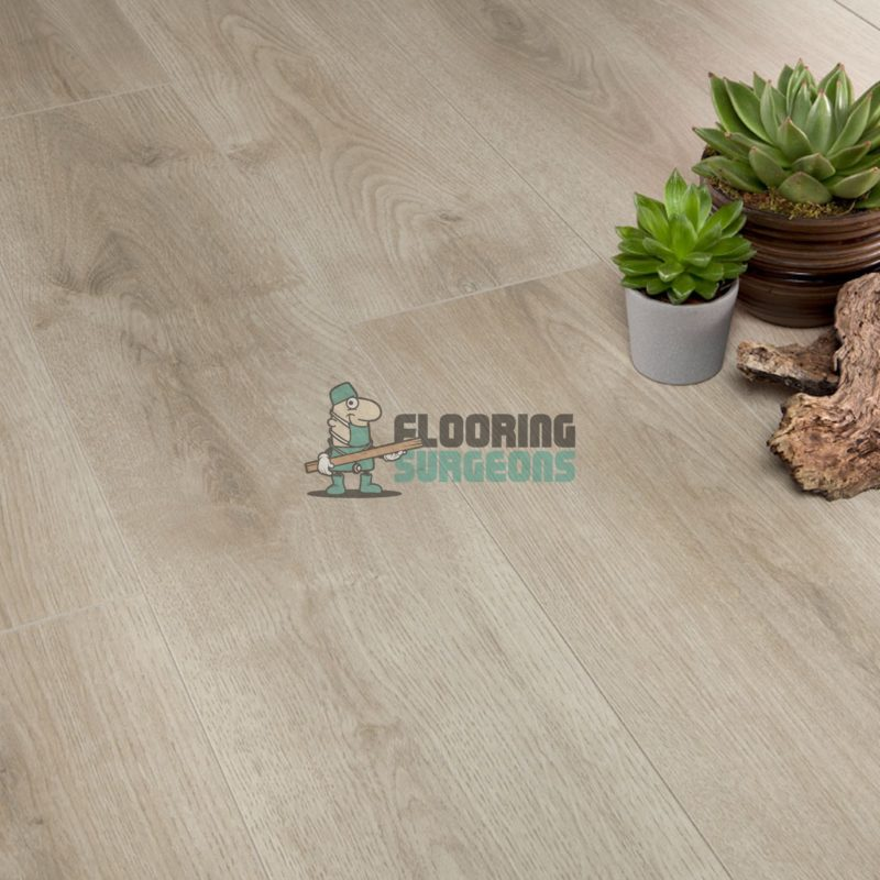Kronotex 7mm Beige Oak 4V Groove Laminate Flooring