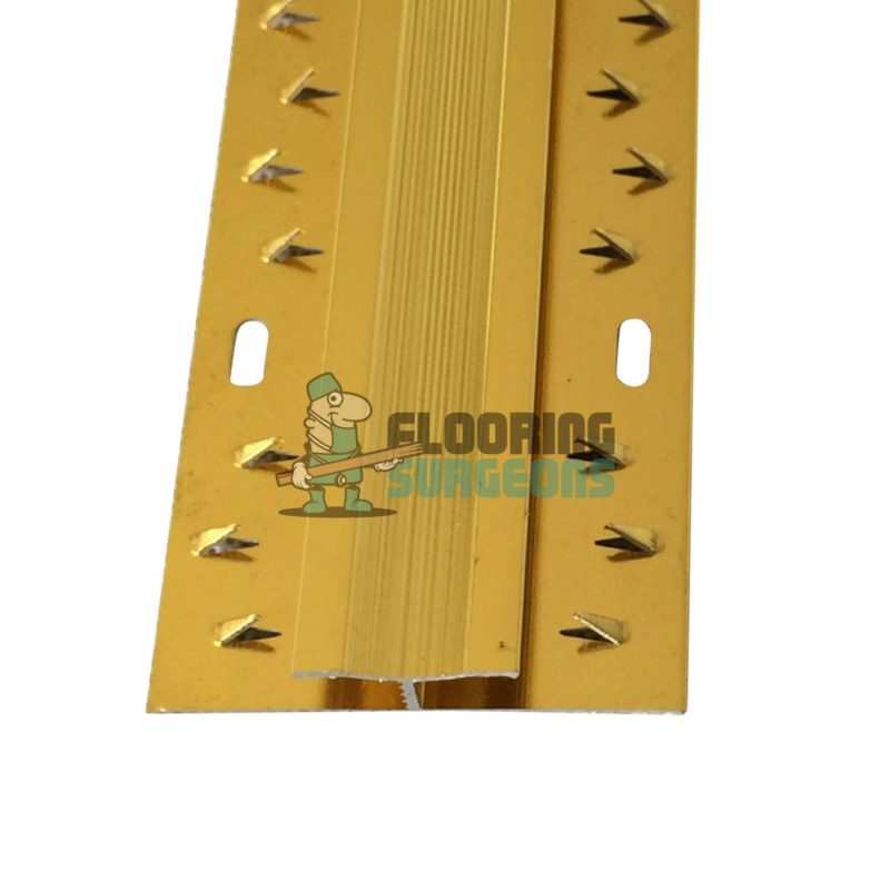 Carpet To Carpet Dual Grip Gold Aluminium Doorbar Profile Strip