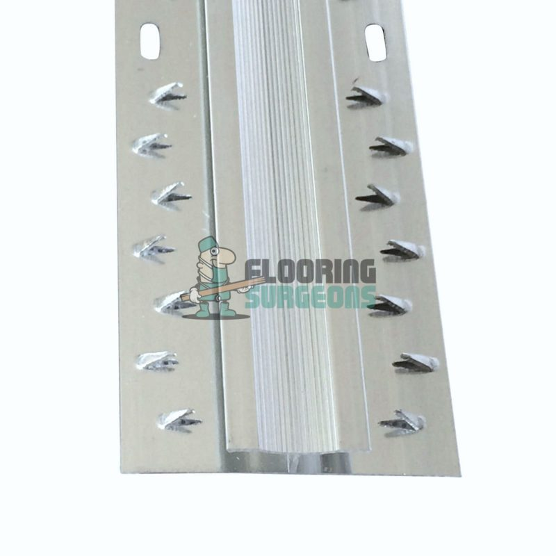 Carpet To Carpet Dual Grip Silver Aluminium Doorbar Profile Strip
