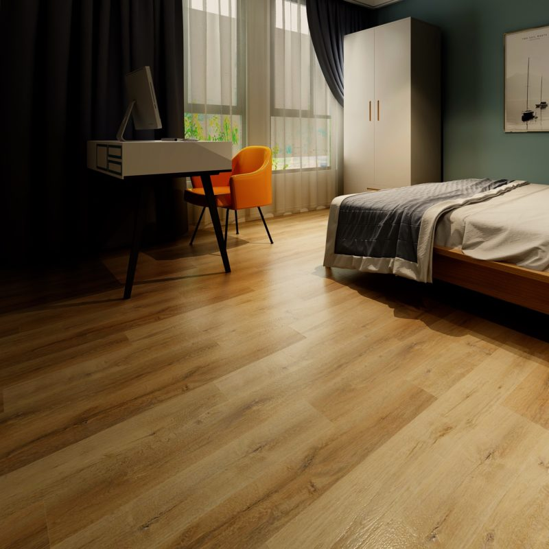 4mm Natural Oak Effect Luxury Vinyl Click Flooring