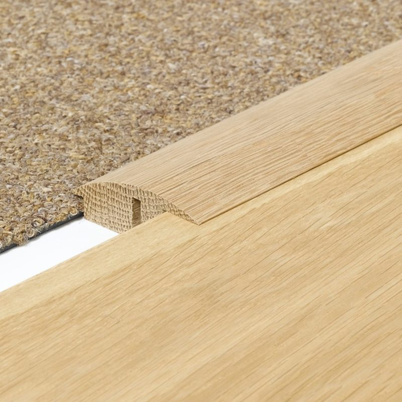 Solid Oak Semi Ramp Threshold Door Strip