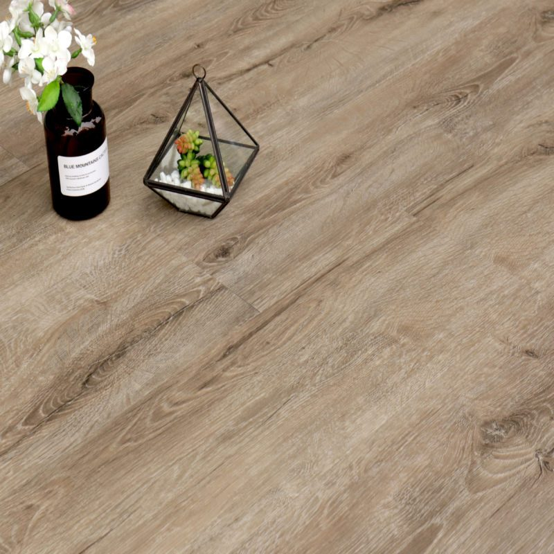 6.5mm Antique Smoked White Effect Luxury Vinyl Click Flooring
