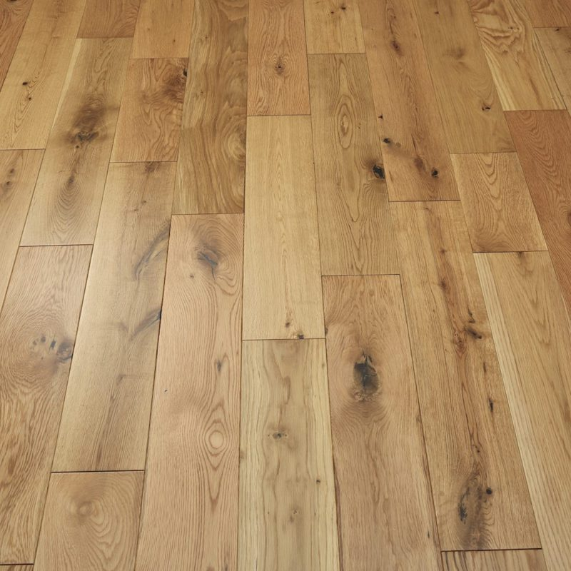 Alabama 150mm Natural Lacquered Oak Solid Wood Flooring