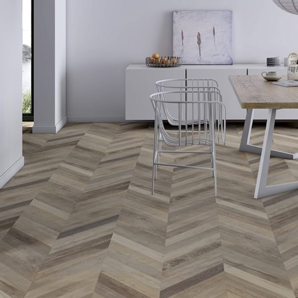 Faus 8mm Masterpiece Chevron Cream Laminate Flooring Flooring Surgeons