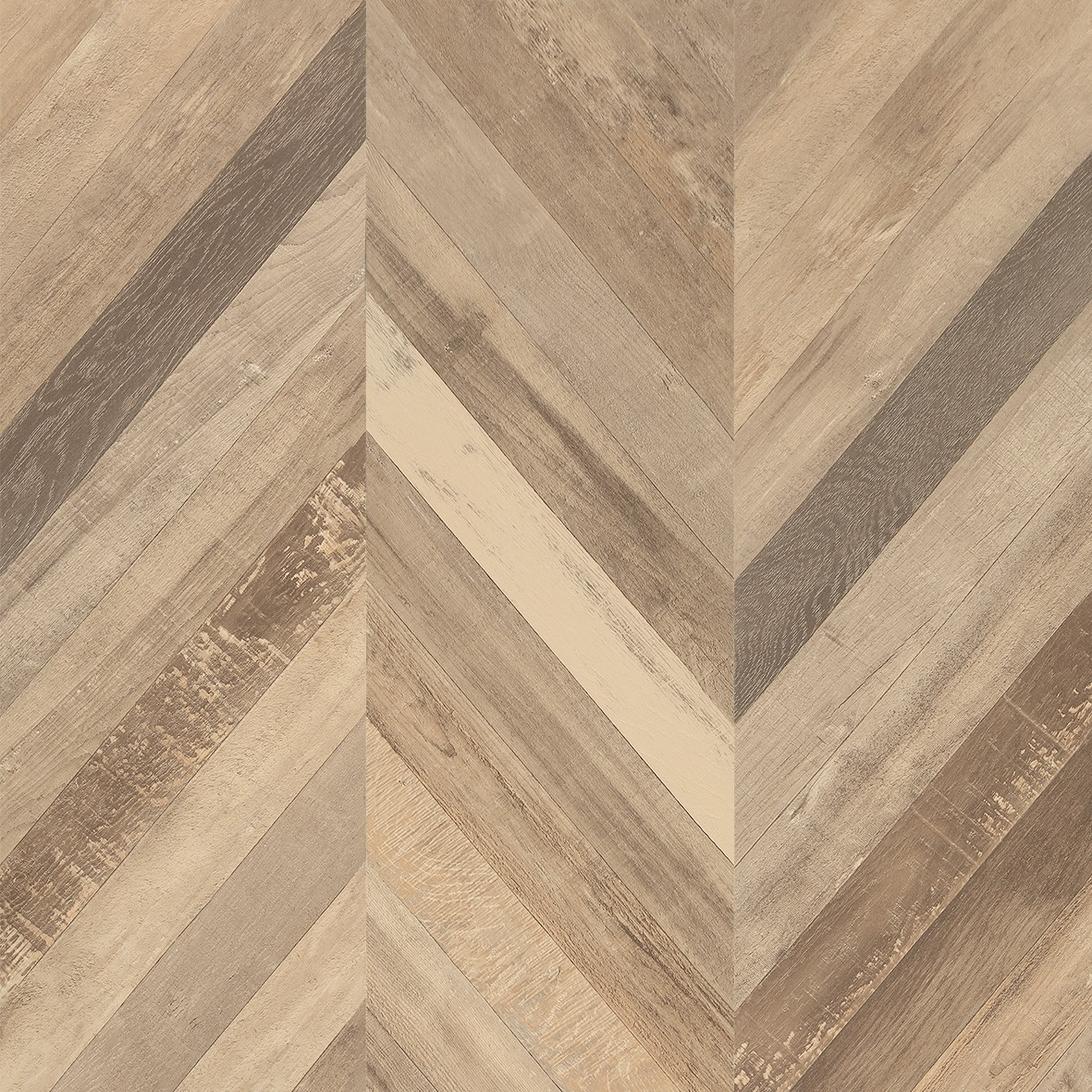 Faus 8mm Masterpiece Chevron Cream Laminate Flooring