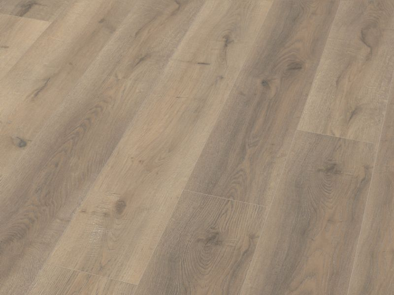 Fusion Classic 12mm Grey Beige Oak 4V Groove Laminate Flooring