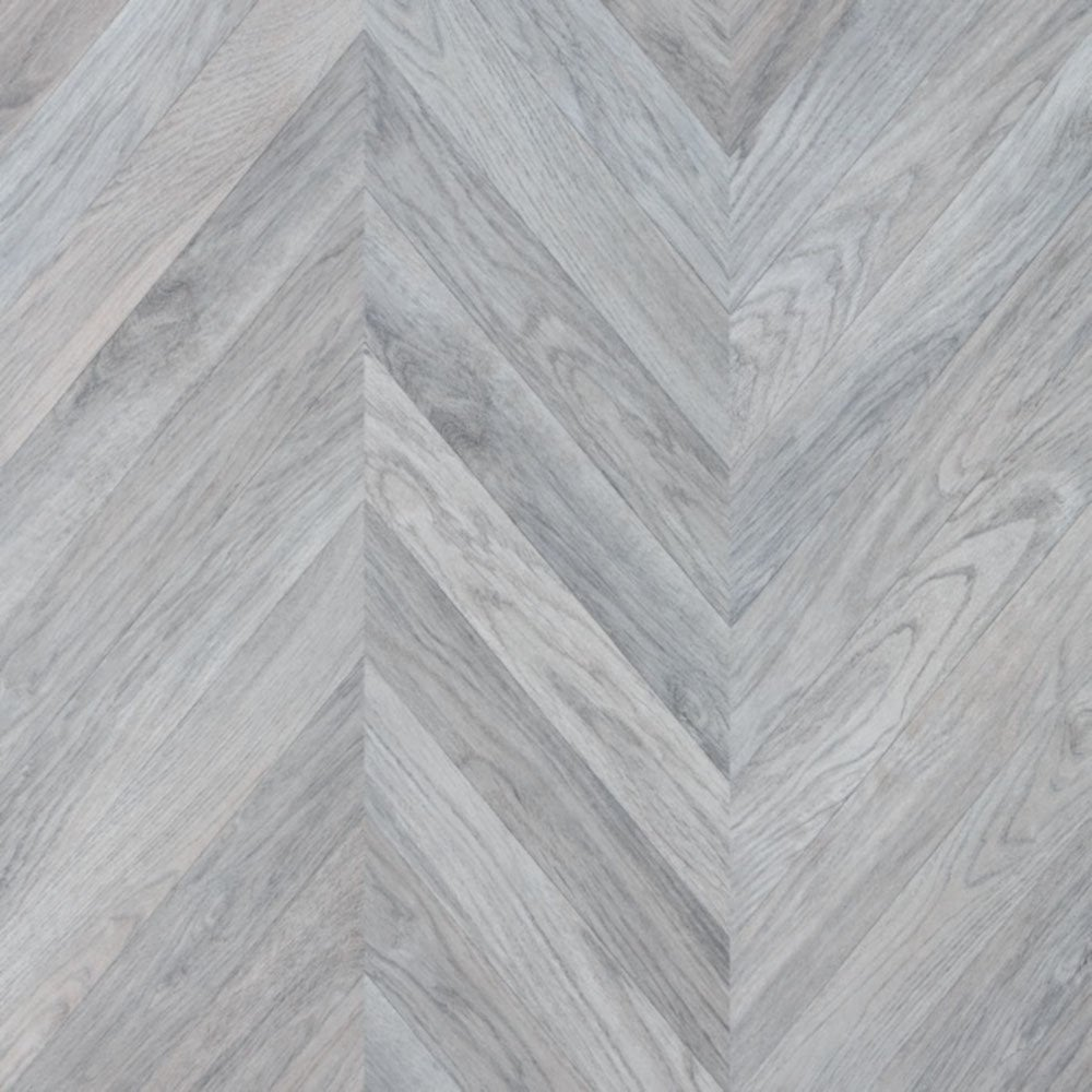 Faus 8mm Masterpiece Chevron Grey Laminate Flooring