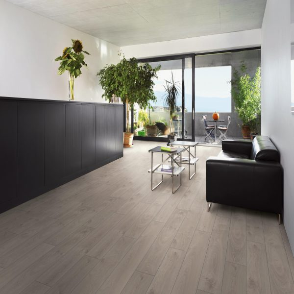Vivant 12mm Davos White Oak 4V Groove Laminate Flooring