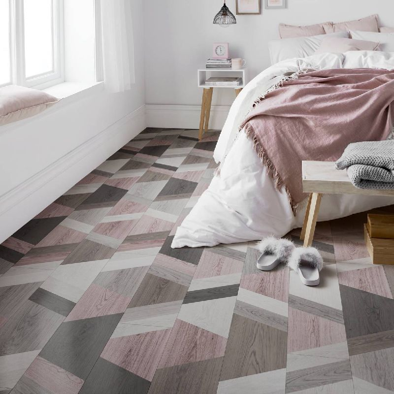 London Style 8mm Funky wriggle Blush Mix Laminate Flooring