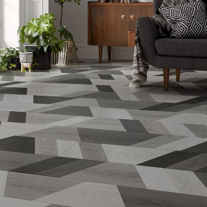London Style 8mm Funky wriggle Monochrome Laminate Flooring