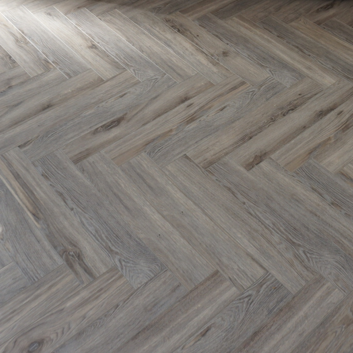 Fusion Herringbone 12mm Volcanic Grey Oak 4V Laminate Flooring