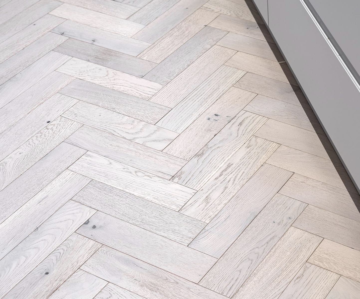 Riviera 18/3 x 80mm White Ash Oak Herringbone Engineered
