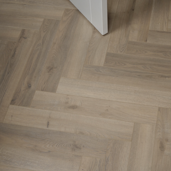 Fusion Herringbone 12mm Grey Beige Oak 4V Laminate Flooring