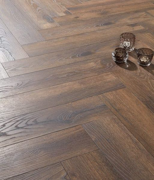 Fusion Herringbone 12mm Coffee Oak 4V Laminate