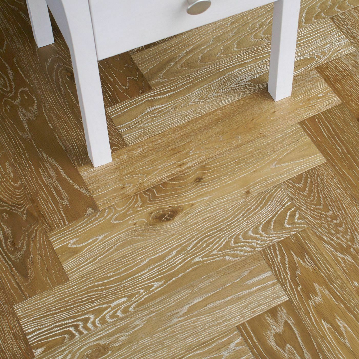 Riviera 14/3 x 90mm Smoked White Lime Oak Herringbone Engineered