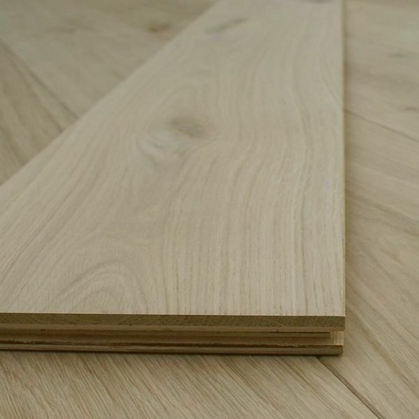 Supreme XL 260mm Extra Wide Unfinished Oak Engineered