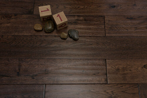 Alabama 125mm Coffee Oak Hand Scraped Solid Wood Flooring