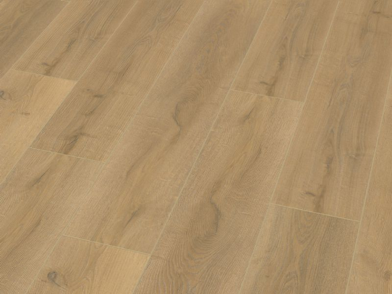 Fusion Classic 12mm Shortbread Oak 4V Groove Laminate Flooring
