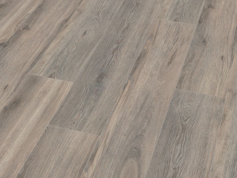 Fusion Classic 12mm Volcanic Grey Oak 4V Groove Laminate Flooring
