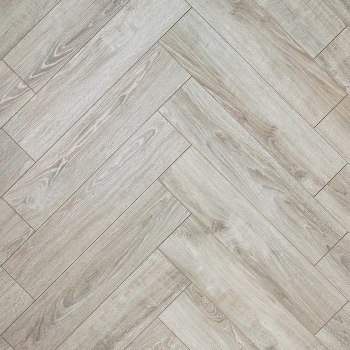 Nature AC6 Herringbone 12mm Pearl Oak Laminate Flooring