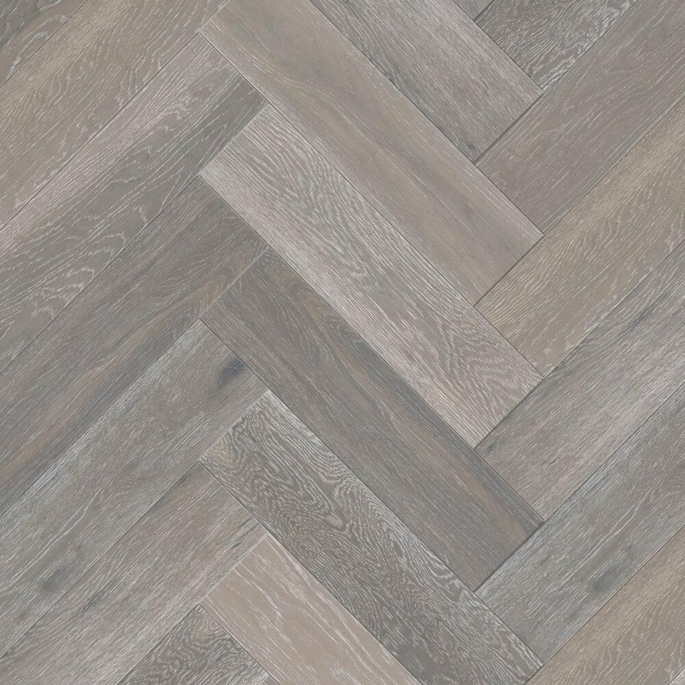 Strata 14/3 x 90mm Slate Grey Oak Herringbone Engineered Flooring