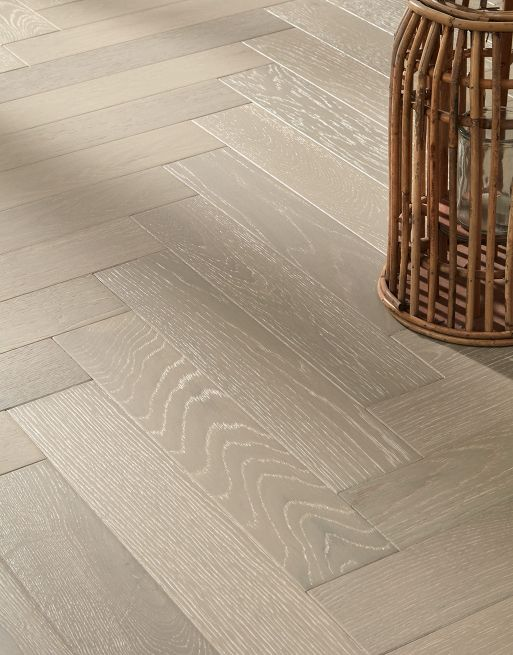 Riviera Click 15/4 x 90mm Shadow Cream Oak Herringbone Engineered Flooring