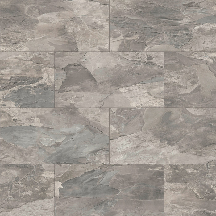 Home Tile Effect 8mm Silver Tornado Slate Laminate Flooring