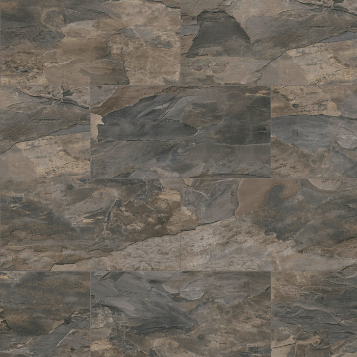 Home Tile Effect 8mm Brown Tornado Slate Laminate Flooring