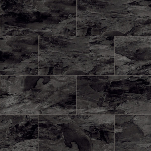 Home Tile Effect 8mm Black Tornado Slate Laminate Flooring