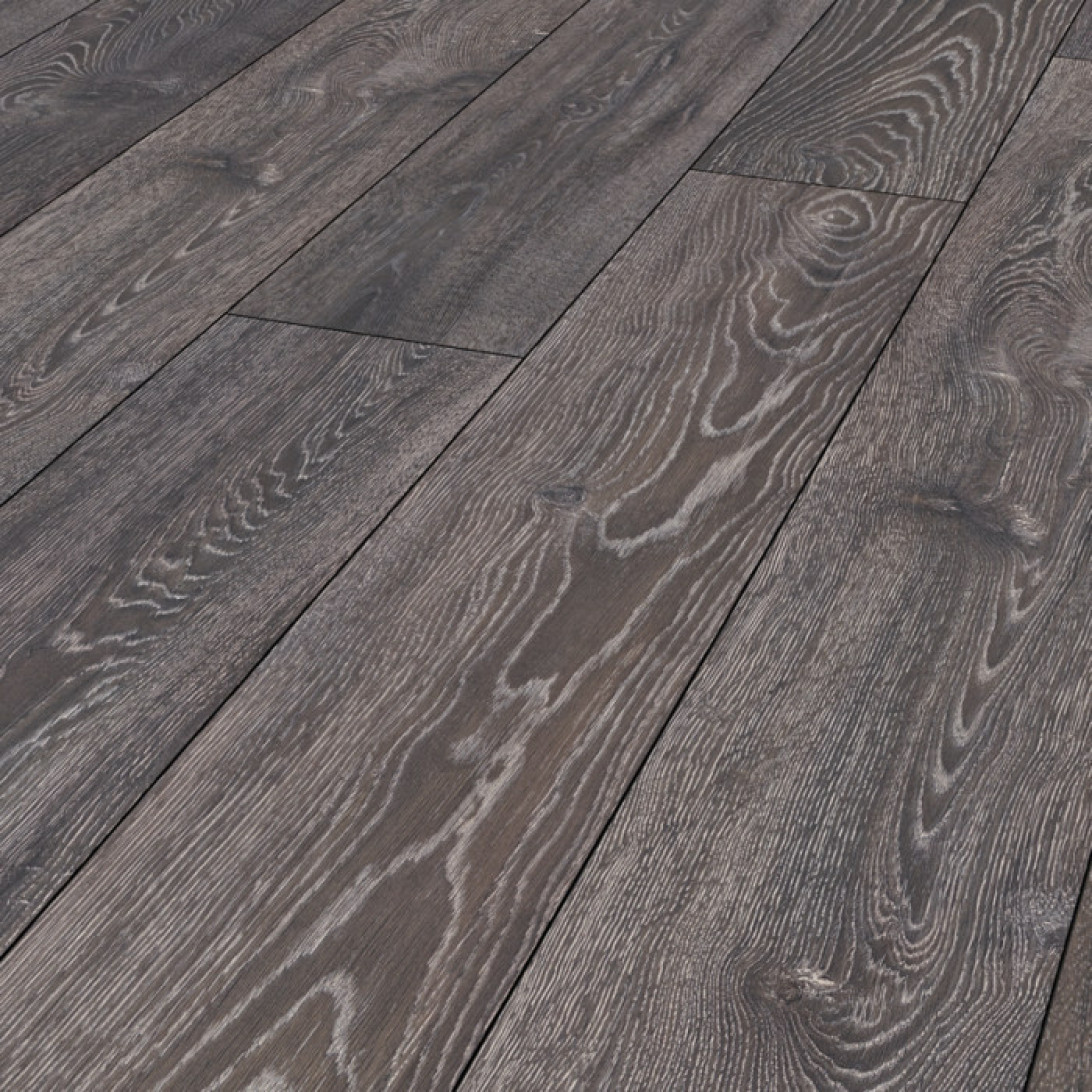 Home Elite 12mm Highland Grey Oak 4V Laminate Flooring