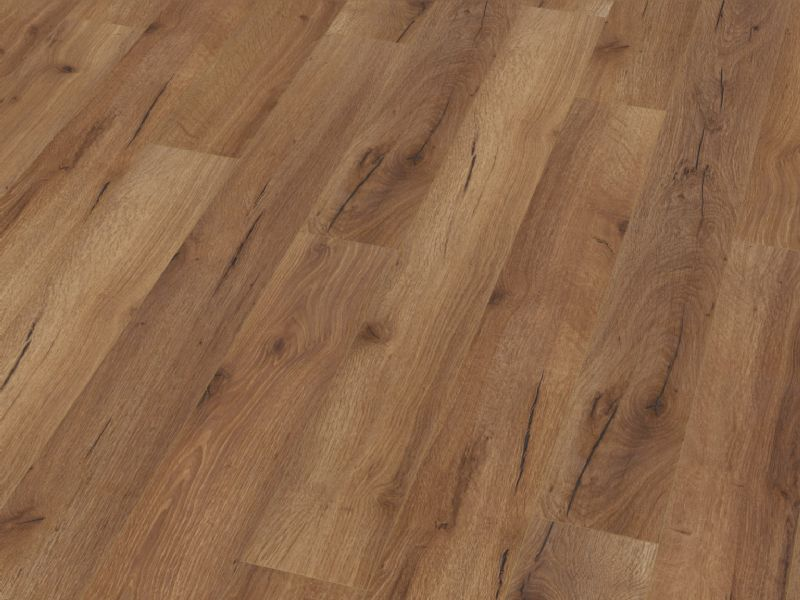 Fusion Classic 12mm Narrow Fumed Robust Oak 4V Groove Laminate Flooring