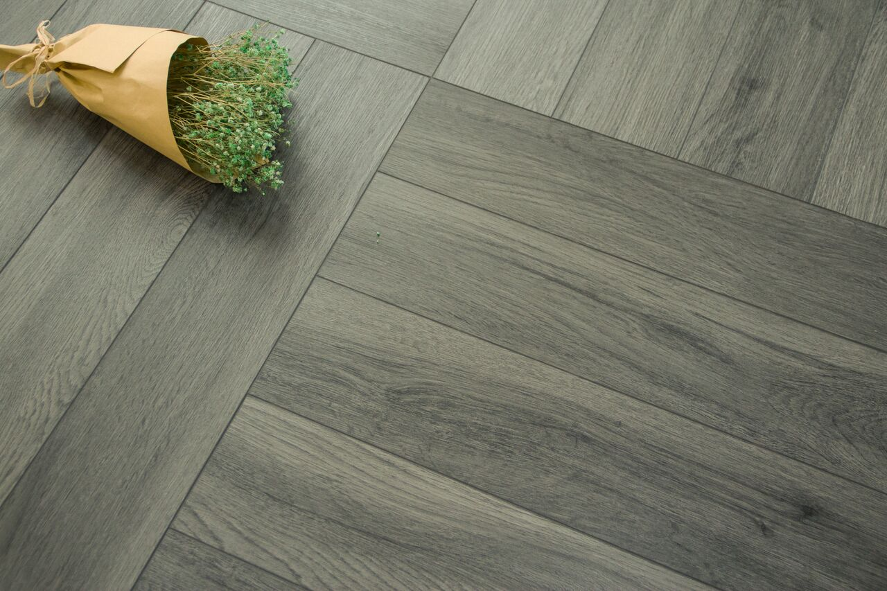 Boutique Herringbone 5mm Ocean Grey Oak Luxury Vinyl Click Flooring