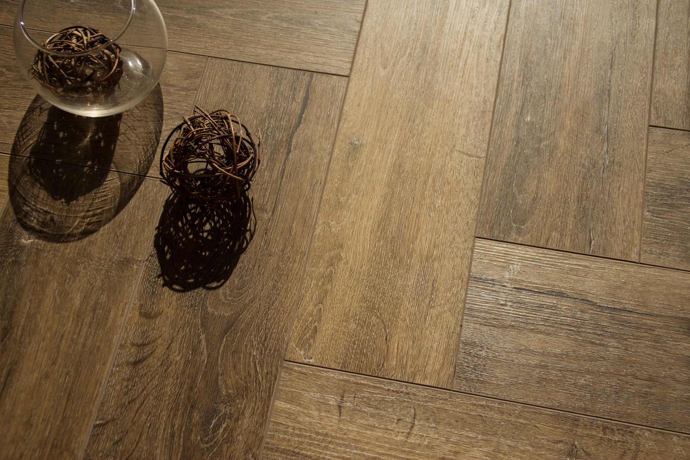 Boutique Herringbone 5mm Distressed Oak Luxury Vinyl Click Flooring