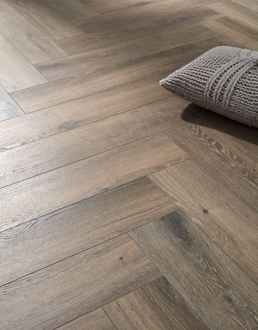 Dolcevita Herringbone 8mm Frozen Dark Oak 4V Laminate Flooring