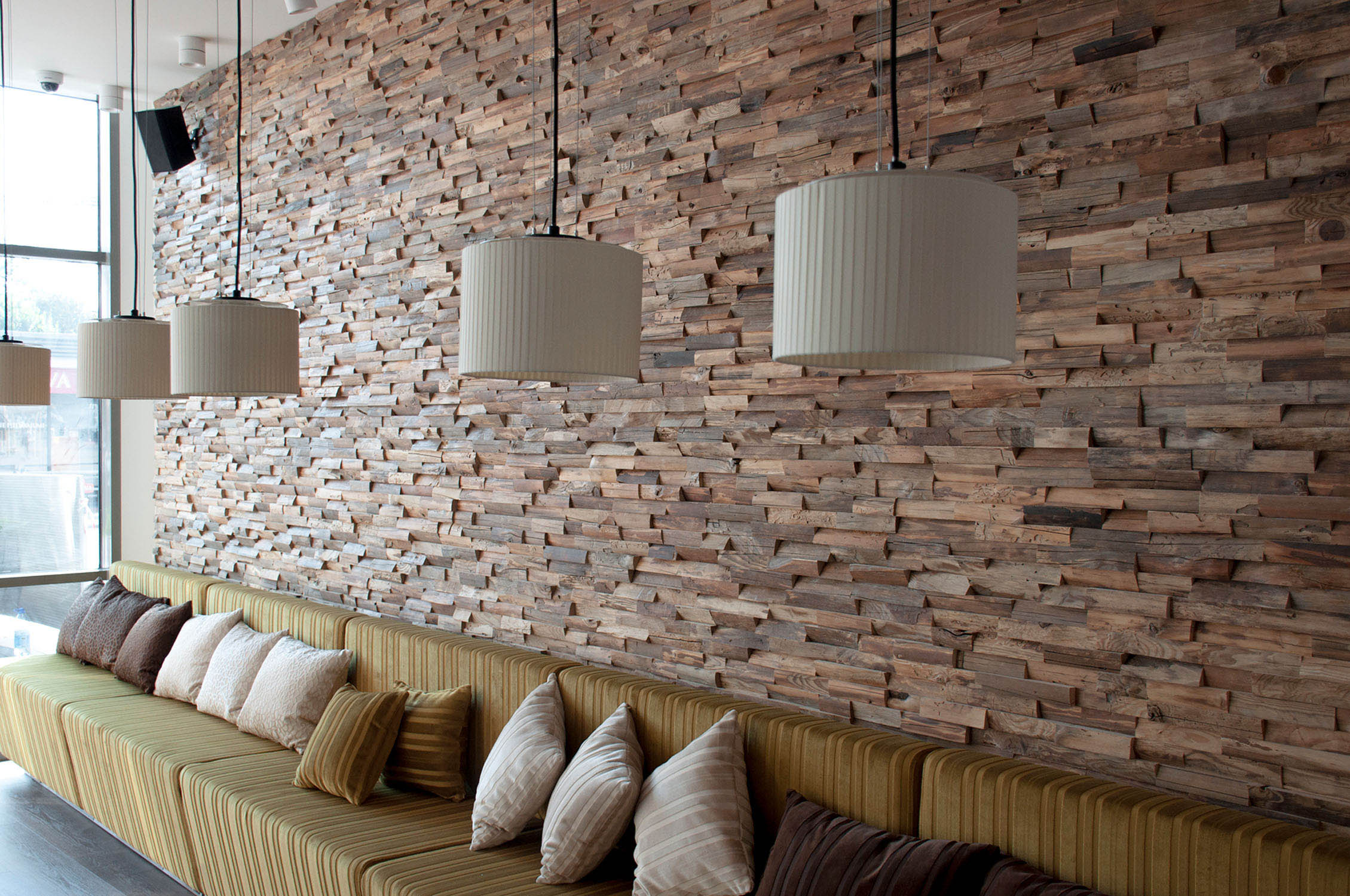 Alessandria 3D Deep Reclaimed Real Wood Panel Wall Cladding